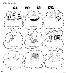 Jolly phonics worksheet reading and writing. Jolly Phonics Workbook 4 Ai J Oa Ie Ee Or Vozeli Com