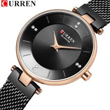 Classic Black Ladies Watches With Rhinestone Women's Fashion ...