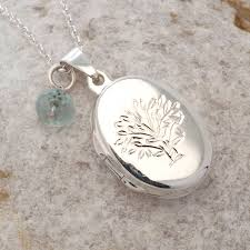 personalised silver tree of life locket