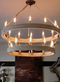 diy double ring chandelier