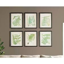 ferns 6 piece framed graphic art set on 6 piece wall art set with 6 piece framed art wayfair
