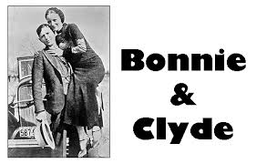 Image result for Bonnie Parker, 24, and Clyde Barrow, 25 are gunned down by police officers in Louisiana.