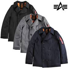 alpha industries jacket peacoat vf