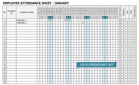 Attendance Tracker Spreadsheet 20 Employee Attendance Tracker Spreadsheets For Any Work