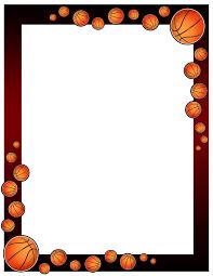 Border Design Basketball Border Design 001 Cumpleaños De Baloncesto