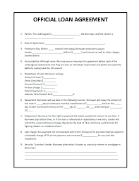 One Page Lease Agreement Personal Loan Free Form Contract Document Agreement Template