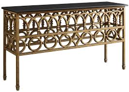 iron console table. Iron Console Table W/ Marble Top