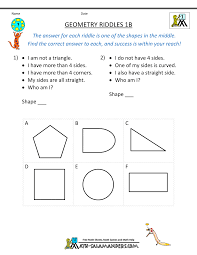 geometry worksheets riddles geometry riddles 1b