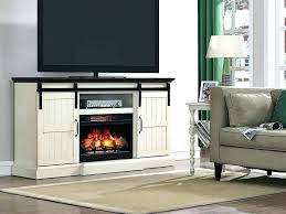 white tv console with fireplace modern stand
