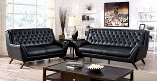FOA Furniture America Leia Black Sofa & Loveseat Set Dallas TX