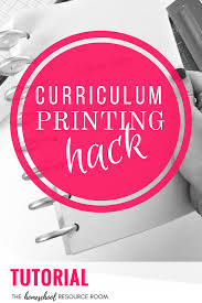 Print Binder Tutorial Print Curriculum Half Size For A Book Or Binder