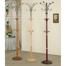 Overstock Coat Rack Interesting Shop Metal And Wood Standing Coat Rack Free Shipping Today