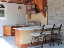 Patio Kitchen Patio Kitchen Plans U Shaped Stone Outdoor Island Stainless Steel
