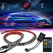 Under Car Light Kit Details About 4pcs Rgb 48 Led Strip Under Car Tube Underglow Underbody System Neon Light Kit