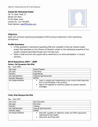 Sample Resume For Mechanical Engineer Fresher 24 Inspirational Mechanical Fresher Resume Format Resume Sample 15