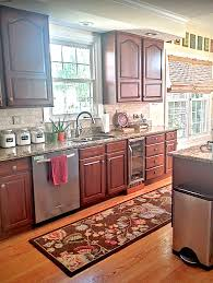painted kitchen cabinets before and after cherry kitchen cabinets with venetian gold granite