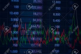 Background Of Numbers And Trading Charts Economy