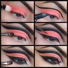 pretty black and pink makeup tutorial
