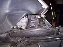 replacing the battery in my bmw r1150rt xs adventure com r1150rt left side panel removed