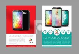 Design Flyer App Mobile App Flyer Design Template Print Ready Ai Eps File