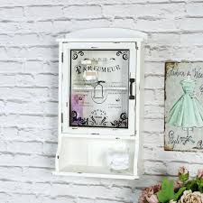 stunning wall mounted cabinets bathroom cream vintage style bathroom wall mounted cabinet glass door shabby french