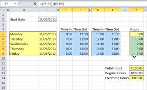 Examples Of Timesheets On Excel Intersectionpublishing