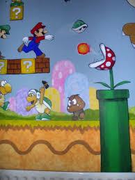 Super Mario Bedroom Super Mario Brothers Murals For Boys Bedroom Loads Of Characters