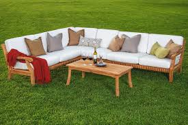 beautiful 5 piece a grade teak dining patio set pool set 2 love seats 1 corner piece 1 armless chair and 1 coffee table