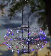 Red White Blue Solar Lights Large Red White And Blue Stars Solar Lantern Solar