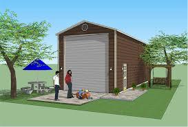 12x14 garage doorMighty Steel 16x45 RV Garage Color Renderings