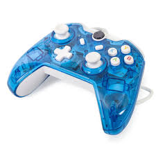 Led Light Xbox One Controller Maexus Wired Xbox One Controller Transparent Blue Gamepad Joypad With Shining Led Lights Support Monster Hunter World Etc