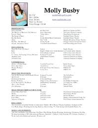 Theatre Resume Templates Gorgeous Theatre Resume Template Lovely Unique Acting Regarding Musical Cv