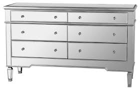 mirror finish furniture. nicolette bedroom 6drawer dresser mirrored finish contemporarydressers mirror furniture