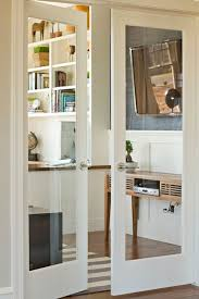 new interior doors with glass glass doors to office modern console table with flat screen
