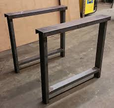 Butcher Block Kitchen Tables Metal Table Legs 3 C Channel Custom Made Beam Legs Steel