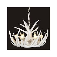 rustic cascade chandelier antler chandelier with 6 lights white pertaining to awesome home white faux antler chandelier decor
