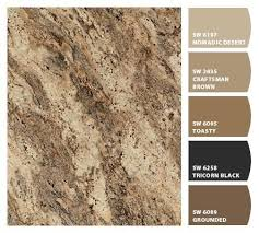 countertop paint colorspaint colors that match rainforest brown granite  Google Search