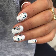 Nail Art Different Designs On Each Finger Fall Floral Nails Simple Fall Nails Spring Nail Art Fall