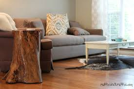 DIY tree stump table 3