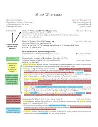 Annotated CV Example 1