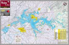 Weiss Lake Al Fishing Map Keith Map Service Inc