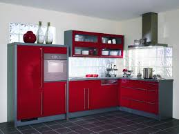 Red Tile Paint For Kitchens Brilliant Red And Grey Kitchen Cabinets Awesome Red Kitchen