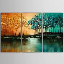 36 x 24 tree wall art textured painting 3 piece canvas art  on large canvas wall art trees with shop large canvas art trees on wanelo