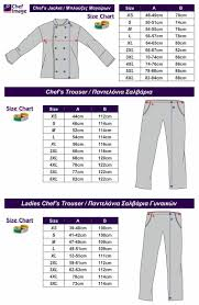 Chef Jacket Size Chart Short Sleeve Chefs Jacket With Wrap Over Button Chef