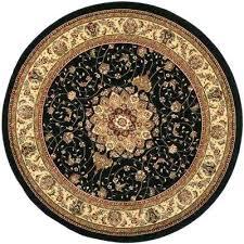 7 round area rug black ivory ft x 5 rugs under 100