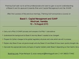 Basel ii capital management and icaap