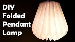 Diy Lampshade Diy Make A Folded Paper Pendant Lamp Shade Youtube