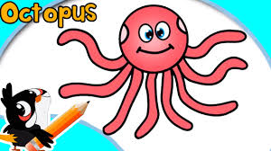 Small Picture How To Draw An Octopus Easy Step By Step Drawings Tutorial For