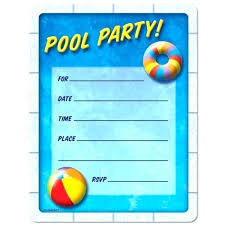 Free Pool Party Invitations Printable Pool Party Invitation Free Guluca