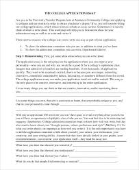 college entry essays sample college essay 8 examples in word pdf